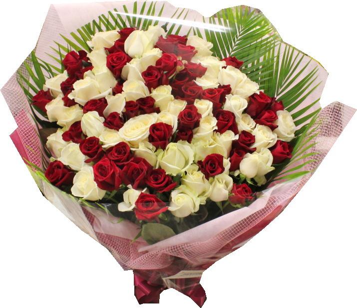バレンタインデーのバラの花束