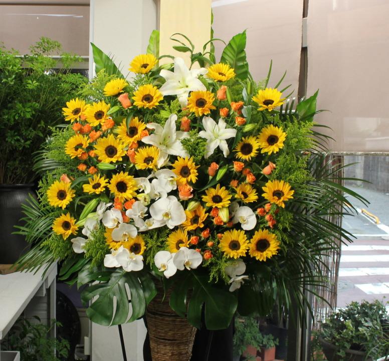 向日葵がメインのスタンド花